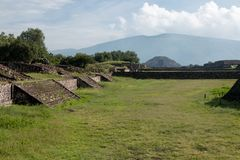 Local arqueológico mexicano famoso e majestuous Imagem de Stock