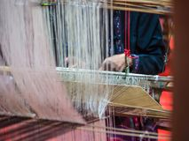 Weaving with local apparatus Royalty Free Stock Image