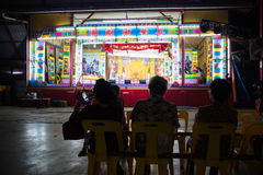 The local audience waiting for Chinese Opera performance Stock Photography