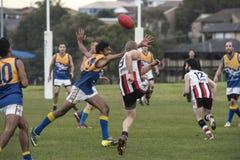 Local Australian Rules Football, Sydney Stock Photo