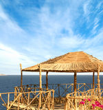 A local bamboo hut on a resort background Stock Photos