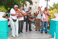 Local  band performing salsa music Stock Photography
