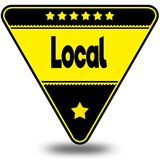 LOCAL on black and yellow triangle with shadow. Illustration Royalty Free Stock Photography
