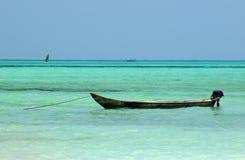 Local boat at Zanzibar beach Royalty Free Stock Photos