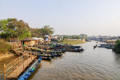 Local boats in Myanmar Royalty Free Stock Photos