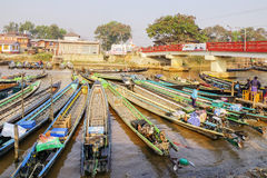 Local boats in Myanmar Royalty Free Stock Image