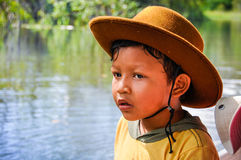 Local boy in the Amazon Rainforest, Manaos, Brazil Stock Photos