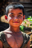 Local boy in a small community near Muang Sing, Laos Stock Image