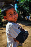 Local boy in a small community near Muang Sing, Laos Royalty Free Stock Image