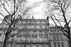 Local building along the street in Paris Stock Photo