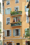 Local building, Nice old town, France Royalty Free Stock Images