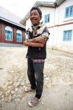 Local Burmese Man in Falam, Myanmar (Burma) Stock Images