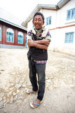 Local Burmese Man in Falam, Myanmar (Burma) Royalty Free Stock Images
