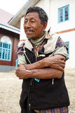 Local Burmese Man in Falam, Myanmar (Burma) Royalty Free Stock Photos