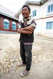 Local Burmese Man in Falam, Myanmar (Burma) Stock Images