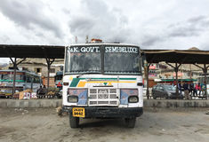 A local bus in Ladakh, India Royalty Free Stock Images