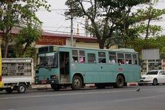 Local bus in Yangon Stock Photo