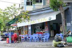 Local cafe of Nha Thrang, Vietnam Stock Image