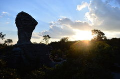 Local called name the Stone FIFA World Cup. Pa Hin Ngam is located at Thep Sathit. Chaiyaphum Park is composed by Inside Flower Fields Inside the large rock royalty free stock photography