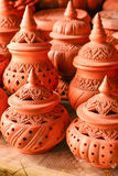 Local carving design pottery. Various carving designs of local pottery Royalty Free Stock Photo