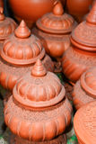 Local carving pottery. Dusty local carving design pottery Royalty Free Stock Photography