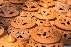 Local carving pottery Stock Image