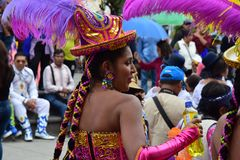 Local Celebrations and colorful clothes royalty free stock photography