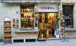 Local ceramic store in Sarlat, France Royalty Free Stock Photography