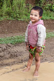 Local Child in Chin State, Myanmar Stock Photo