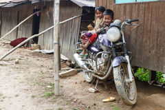 Local Children in Chin State, Myanmar Stock Photography