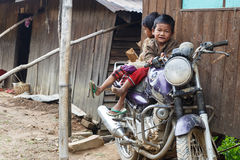 Local Children in Chin State, Myanmar Royalty Free Stock Images