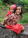 LOCAL CHILDREN AT SITU PATENGGANG IN INDONESIA Stock Photos