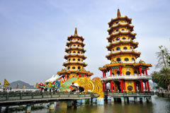 Local with Chinese-style architectural interest - Dragon Tiger Tower Stock Images