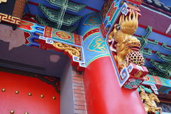 Local Chinese traditional architecture: a richly ornamented building Royalty Free Stock Photos