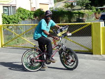 A local christmas bike in the west indies Royalty Free Stock Image