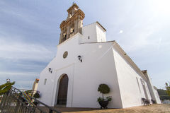 Local church located in spanish Sanlucar town Stock Photo