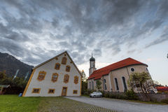 Local church of Oberammergau Stock Images