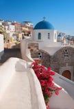 Local church in Oia village in Santorini, Greece Royalty Free Stock Photography