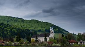 Local church , one of the most visited place by pilgrims in Eastern Europe. royalty free stock photo