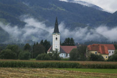Local church, Slovenia Stock Images