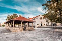 Local church in village Blato on Korcula in Croatia Royalty Free Stock Photography