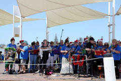 Local Community Band Celebrating Christmas @ The Entrance Royalty Free Stock Photos