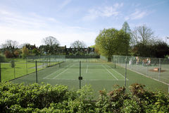 Local Community Tennis Court View Royalty Free Stock Photos