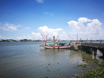 Local Community Way of Thailand people Life near a river royalty free stock photo