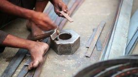 Local craftsman at work Royalty Free Stock Photo