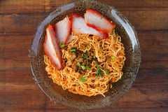 Local cuisine Kolo Mee in Kuching, Sarawak, Malaysia - Series 3 Royalty Free Stock Photography