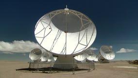 Local da astronomia de ALMA em San Pedro de Atacama, região de Antofagasta/Chile vídeos de arquivo