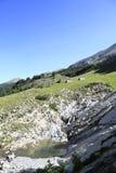 Local da bandeja e os lagos da lenhina, france Fotografia de Stock