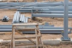 Local da construção da construção do metal foto de stock royalty free