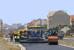 Local da construção de estradas Fotos de Stock Royalty Free
